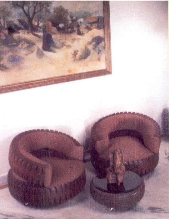 Tyre furnitue for Diy tire chair